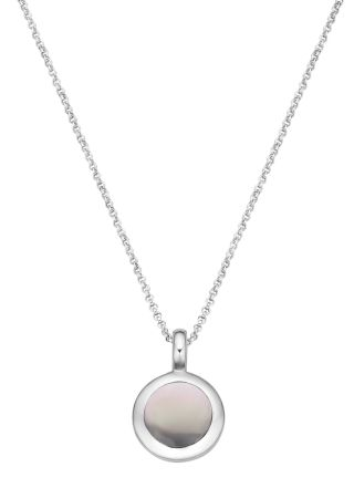 Collier Pommy Grey Medium van zilver